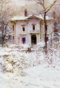 Victorian Winter, 1987 by Richard Schmid