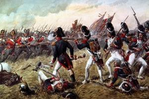 The 3rd Regiment of Foot Guards Repulsing the Final Charge of the Old Guard at the Battle of… by Richard Simkin