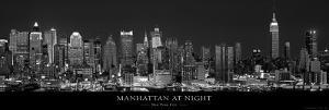 Manhattan at Night, New York City by Richard Sisk