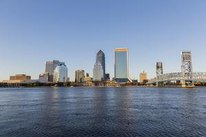 City skyline and St. Johns River, Jacksonville, Florida by Richard & Susan Day