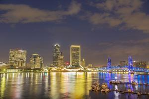 City skyline and St. Johns River. Jacksonville, Florida. by Richard & Susan Day