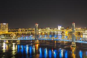 Main Street Bridge, St. Johns River. Jacksonville, Florida. by Richard & Susan Day