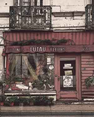 Lutau Fleurs Store on the Street by Richard Sutton