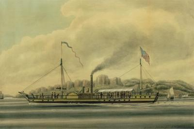 The Hudson River Steamboat, 'Clermont', C.1858