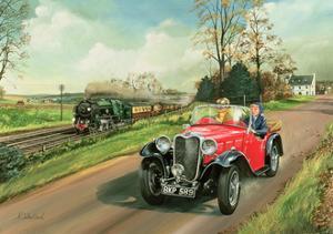 Racing the Train, 1995 by Richard Wheatland