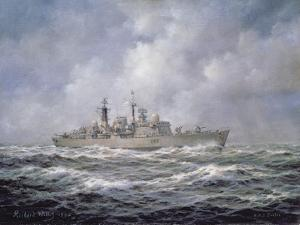 H.M.S. Exeter, Type 42 (Batch 2) Destroyer, 1990 by Richard Willis