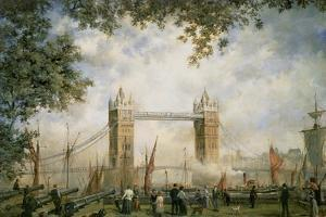 Tower Bridge: from the Tower of London by Richard Willis