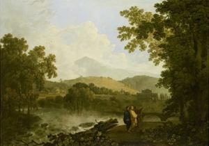Cicero and His Friends, Atticus and Quintus, at His Villa at Arpinum, 18th Century by Richard Wilson