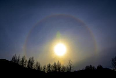 A sun halo seen in northern British Columbia by Richard Wright