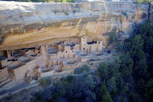 Cliff Palace Ancestral Puebloan Ruins at Mesa Verde National Park, Colorado by Richard Wright