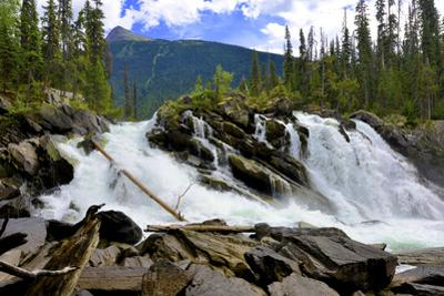 Ghost Lake Waterfall on the Matthew River in the Cariboo Mountains of B.C by Richard Wright