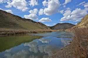 Humboldt River, the First Crossing of Carlin Canyon in Nevada by Richard Wright