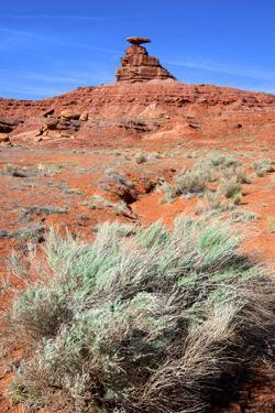 Mexican Hat Rock in the San Juan River Valley, on Highway 261, Utah by Richard Wright