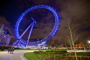 Nightime View of London's Big Wheel by Richard Wright