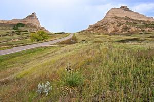 Oregon Trail Leaves Nebraska Passes Scotts Bluff Towards Mitchell Pass by Richard Wright