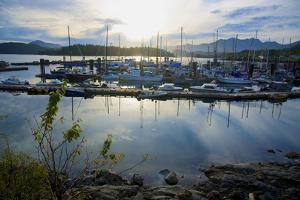 Queen Charlotte Harbor on Haida Gwaii on a Stormy Evening by Richard Wright