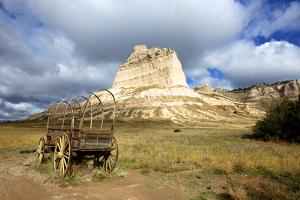 Scotts Bluff in Present Day Nebraska, Now a National Monument by Richard Wright