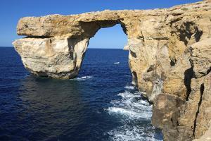 The Zerka or Azure Window at Dwejra Park on Gozo, Malta by Richard Wright