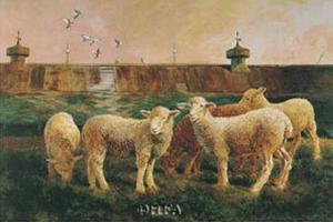 Five Lambs, 1988 by Richard Yaco