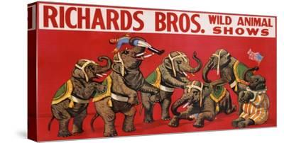Richards Bros. Wild Animal Shows, ca. 1925