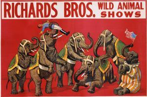 Richards Bros. Wild Animal Shows Poster