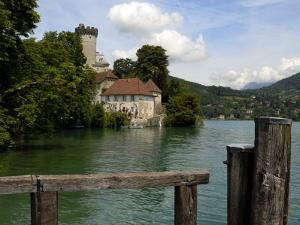 Chateau at Duingt, Lake Annecy, Annecy, Rhone Alpes, France, Europe by Richardson Peter
