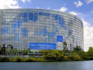 European Parliament, Strasbourg, Alsace, France, Europe by Richardson Peter