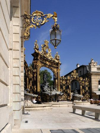 Gilded Wrought Iron Gates, Place Stanislas, Nancy, Lorraine, France