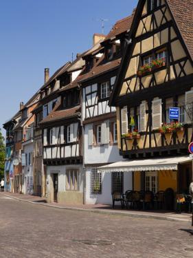 Half Timbered Buildings Along the Quai De La Poissonnerie, Colmar, Haut Rhin, Alsace, France by Richardson Peter