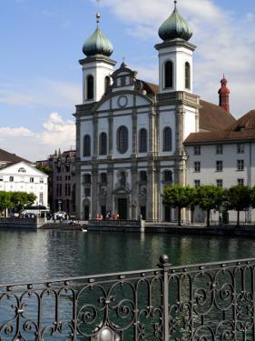 Jesuit Church, Luzern, Switzerland, Europe by Richardson Peter