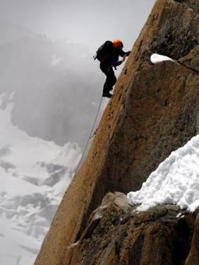 Mountaineer, Climber, Mont Blanc Range, French Alps, France, Europe by Richardson Peter