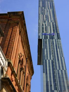 Old Building with the Beetham Tower in the Background, Manchester, England, United Kingdom, Europe by Richardson Peter