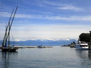 Port Des Mouettes, Lac Leman, Evian-Les Bains, Haute-Savoie, France, Europe by Richardson Peter
