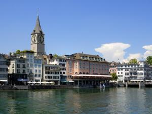 Riverside View of the Old Town, Zurich, Switzerland, Europe by Richardson Peter