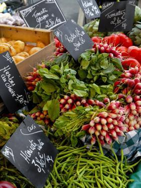 Salad and Vegatables on a Market Stall, France, Europe by Richardson Peter