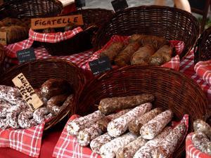 Sausages on a Market Stall, La Flotte, Ile De Re, Charente-Maritime, France, Europe by Richardson Peter