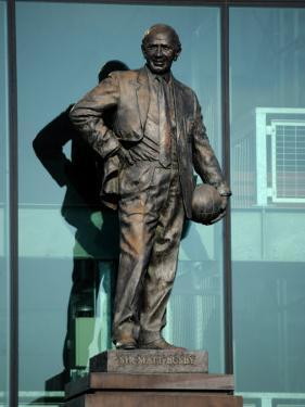 Sir Matt Busby Statue, Manchester United Football Club Stadium, Old Trafford, Manchester, England by Richardson Peter