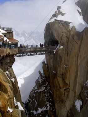 Viewing Platform and Walkway, Aiguille Du Midi, Chamonix-Mont-Blanc, French Alps, France, Europe by Richardson Peter