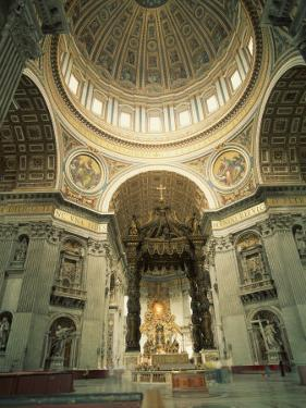Interior of St.Peter's Basilica, the Vatican, Rome, Lazio, Italy, Europe by Richardson Rolf