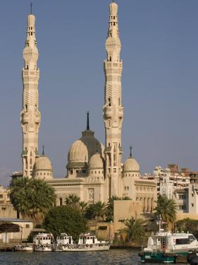 Port Fuad Mosque and the Suez Canal, Port Said, Egypt, North Africa, Africa by Richardson Rolf