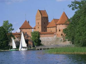 Trakai Castle in Lithuania, Baltic States, Europe by Richardson Rolf