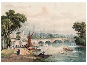 Richmond Bridge, 1880 by F Jones