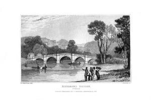 Richmond Bridge, London, 1829 by J Rogers