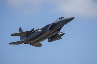 USA, Oregon, Hillsboro, F-15C Eagles. by Rick A Brown