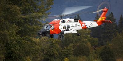 USA, Oregon, Hood River, Us Coast Guard Hh60 Jayhawk