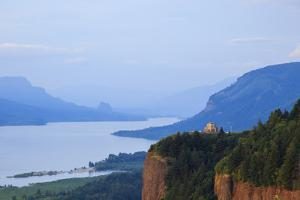 Vista House, from Chanticleer Point, Columbia Gorge National Scenic Area, Oregon, USA by Rick A. Brown