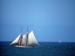 Spirit of Massachusetts in Boston Harbor, MA by Rick Berkowitz