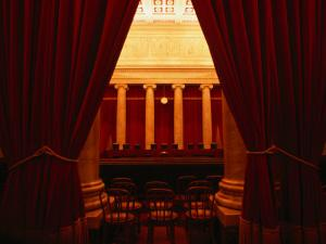 Behind the Curtain is the Supreme Court of Washington Dc by Rick Gerharter