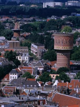 Buildings from Dom Tower, Utrecht, Netherlands by Rick Gerharter