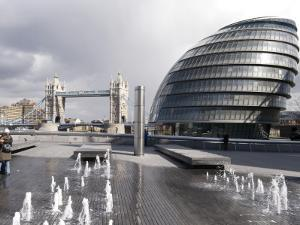 City Hall with Tower Bridge in Background by Rick Gerharter